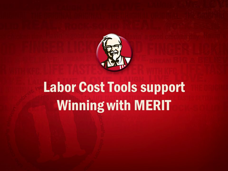Labor Cost Tools support Winning with MERIT