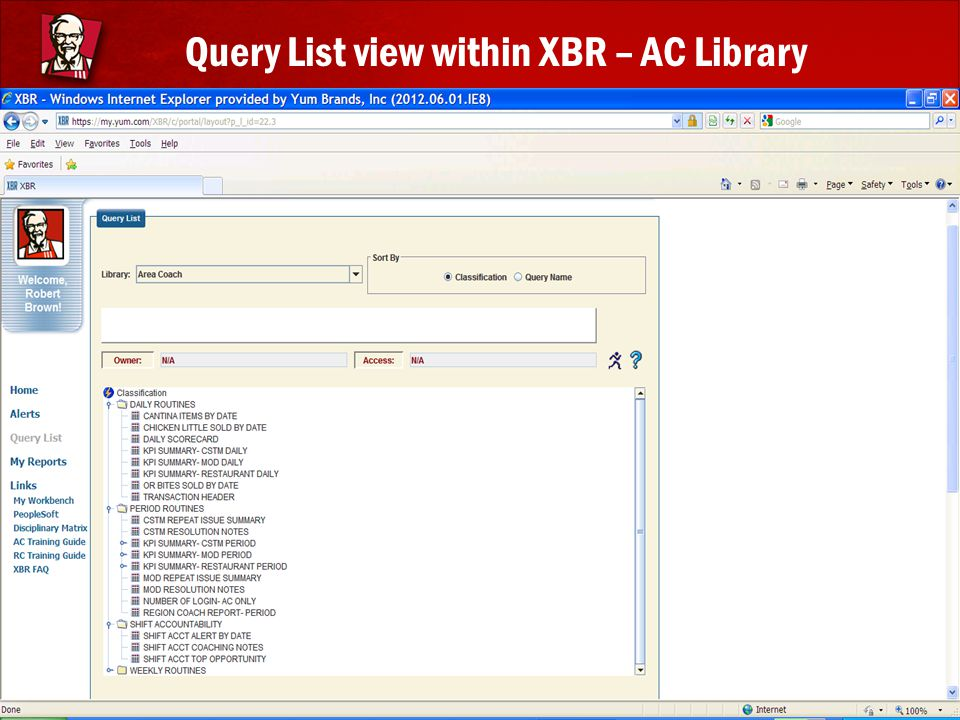 Query List view within XBR – AC Library