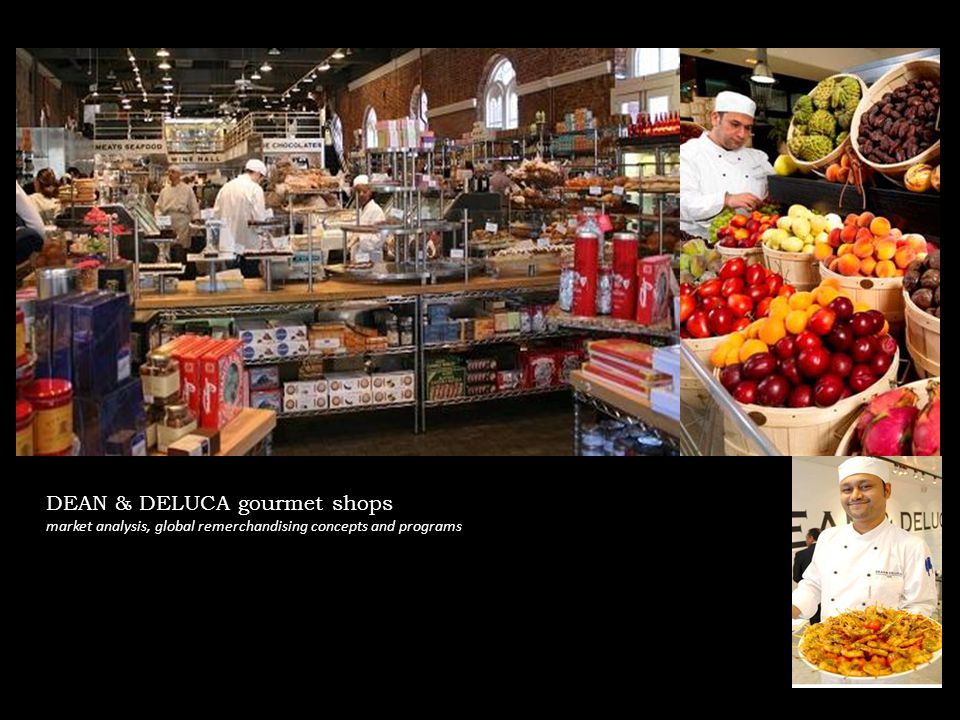 DEAN & DELUCA gourmet shops market analysis, global remerchandising concepts and programs