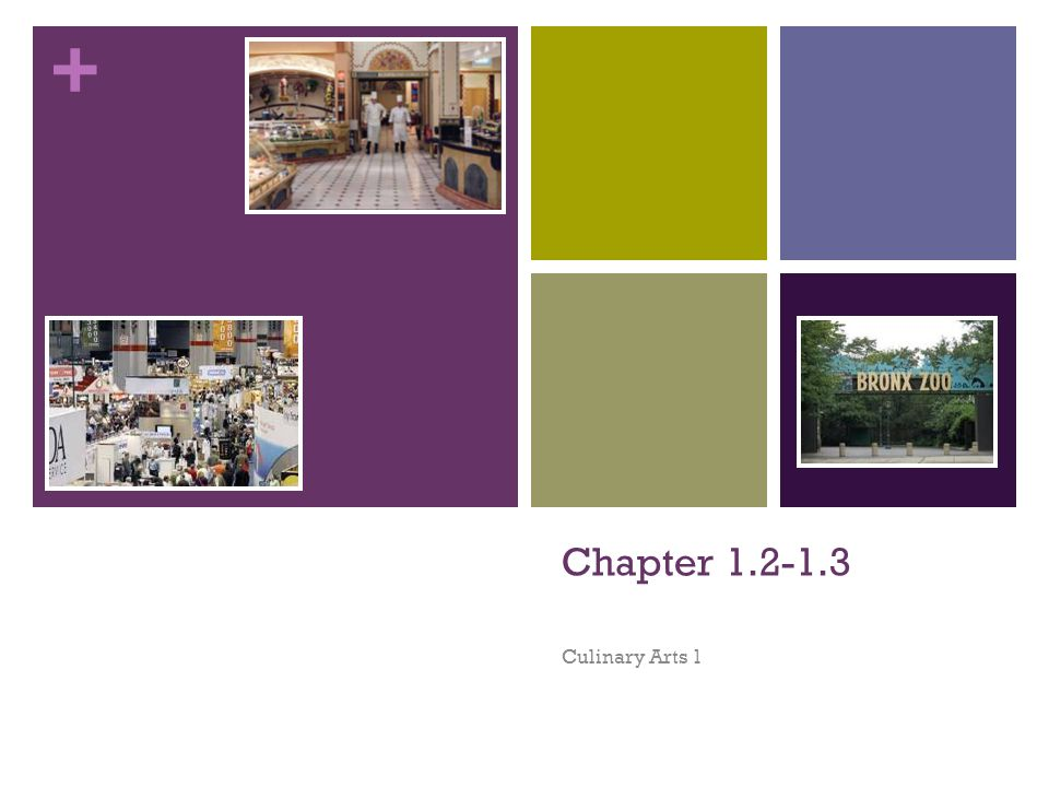 + Chapter 1.2-1.3 Culinary Arts 1