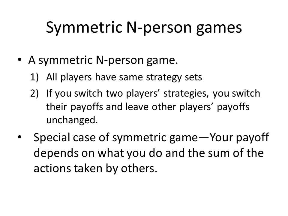 A symmetric N-person game.
