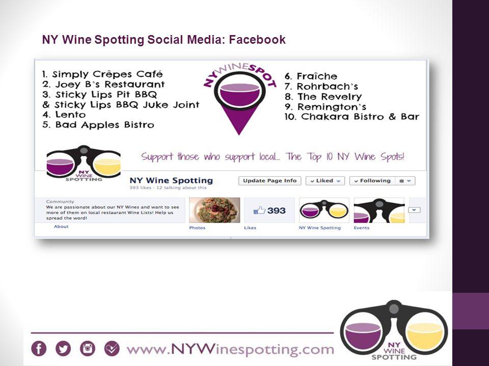 NY Wine Spotting Social Media: Facebook