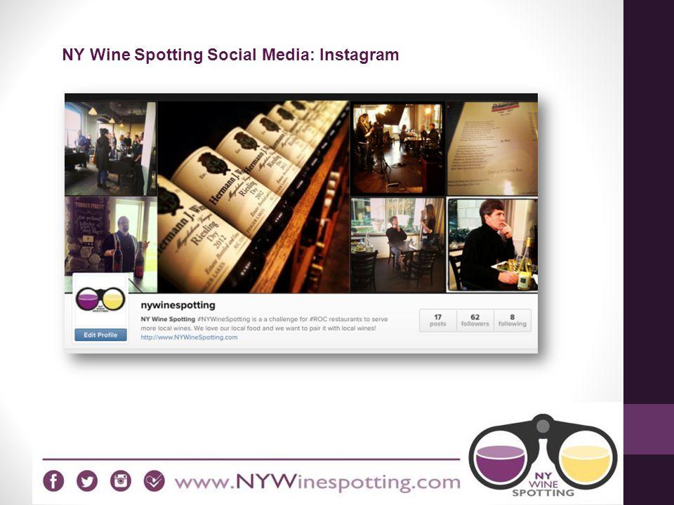 NY Wine Spotting Social Media: Instagram