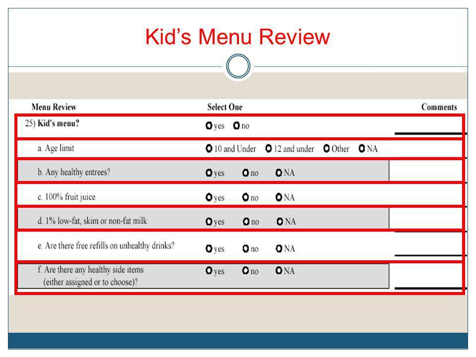 Kids Menu Review