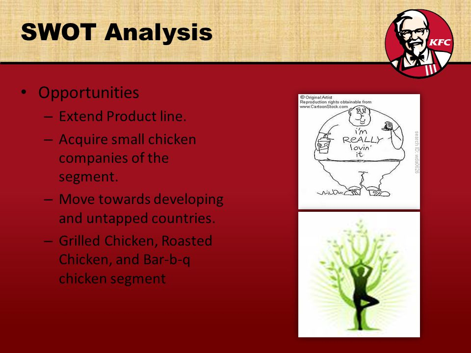 SWOT Analysis Opportunities – Extend Product line.