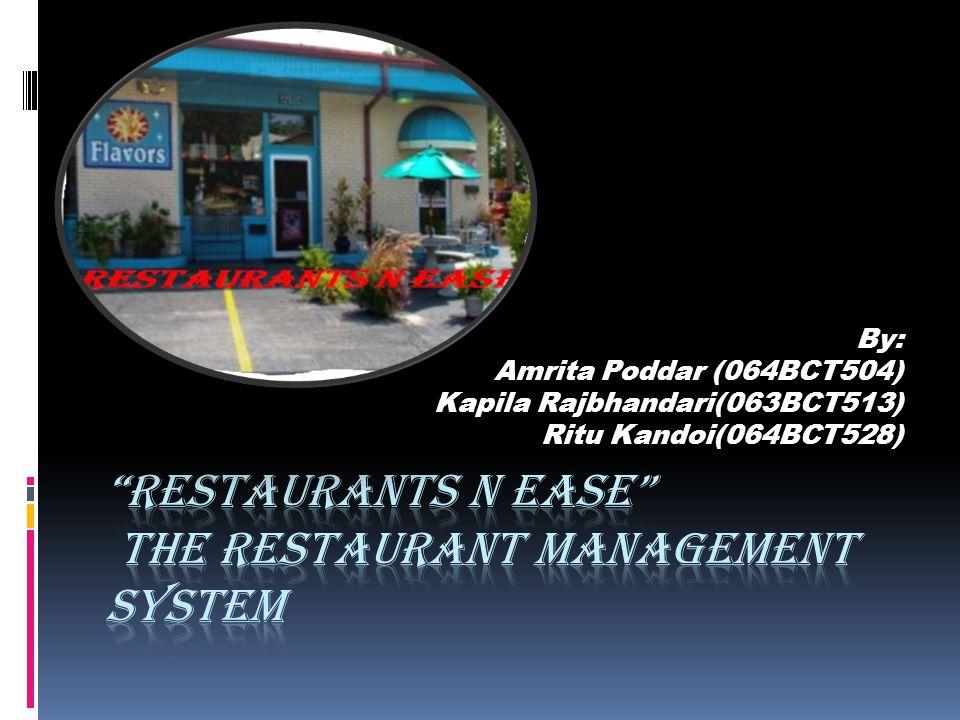 By: Amrita Poddar (064BCT504) Kapila Rajbhandari(063BCT513) Ritu Kandoi(064BCT528)