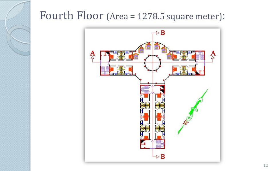Fourth Floor (Area = 1278.5 square meter) : 12