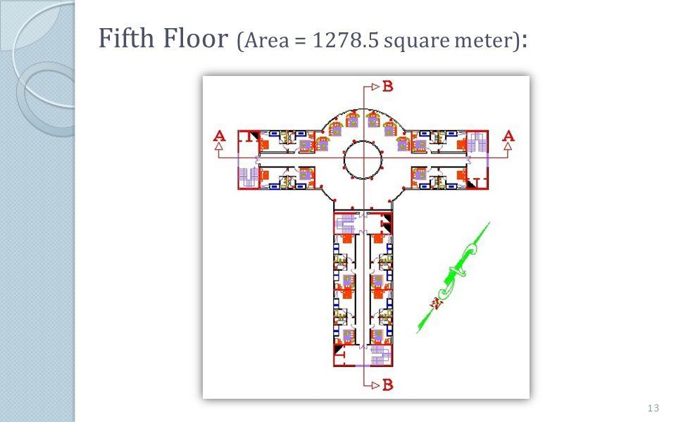 Fifth Floor (Area = 1278.5 square meter) : 13