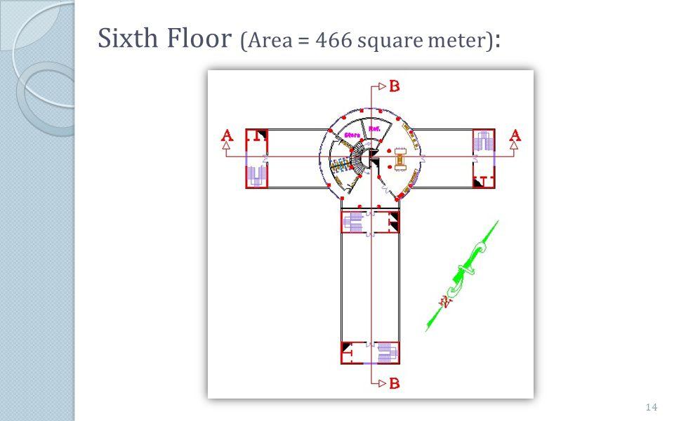 Sixth Floor (Area = 466 square meter) : 14