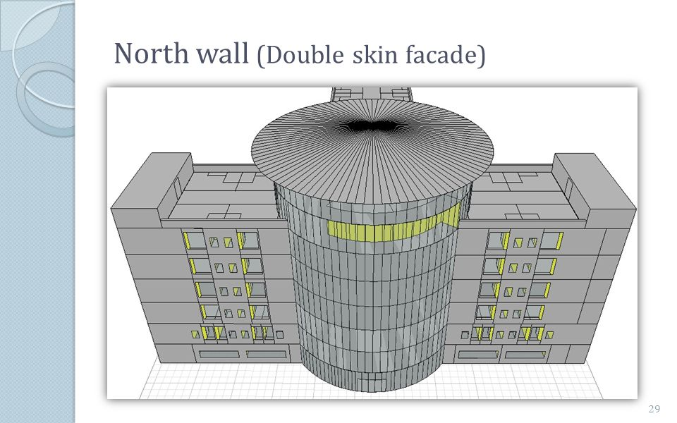 North wall (Double skin facade) 29