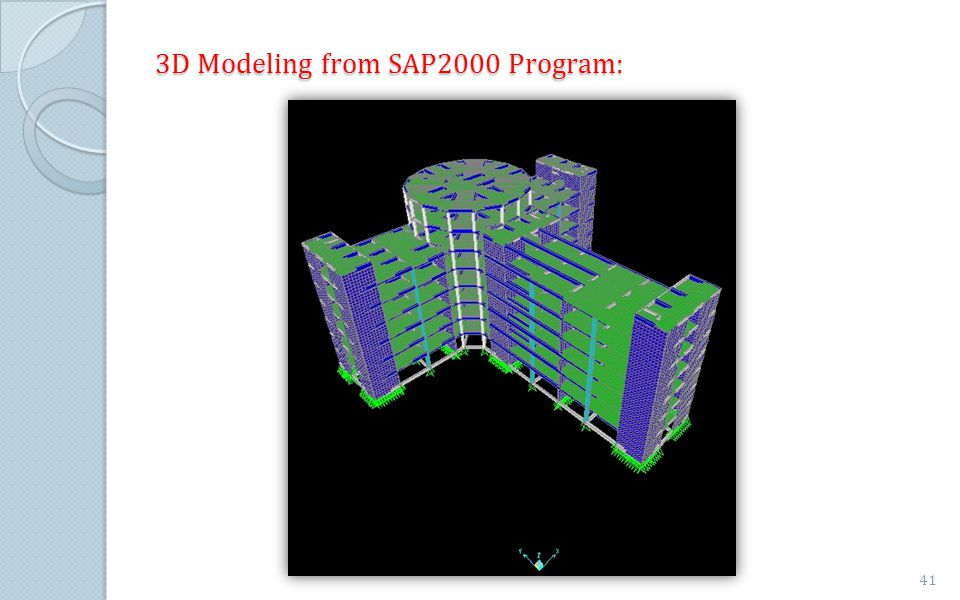 3D Modeling from SAP2000 Program: 41