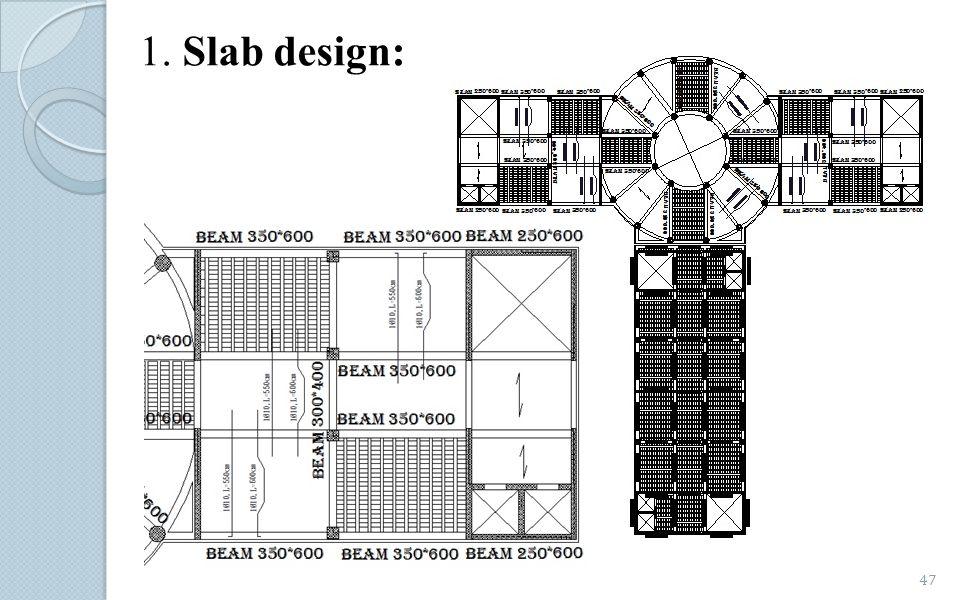 1. Slab design: 47