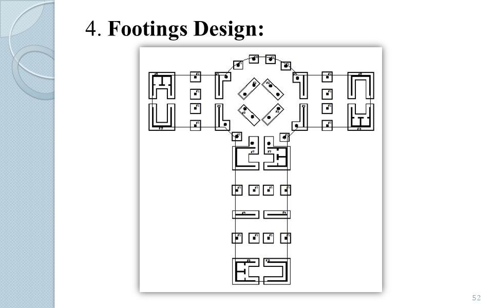4. Footings Design: 52