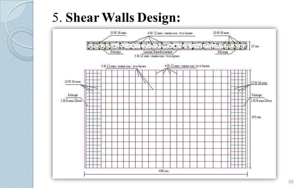5. Shear Walls Design: 58