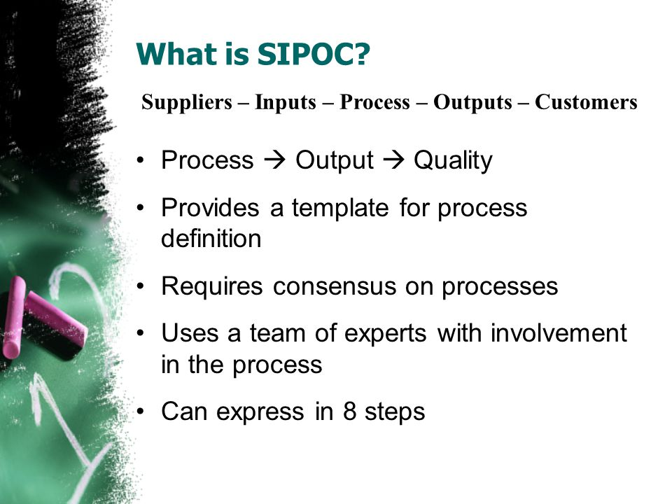 What is SIPOC.