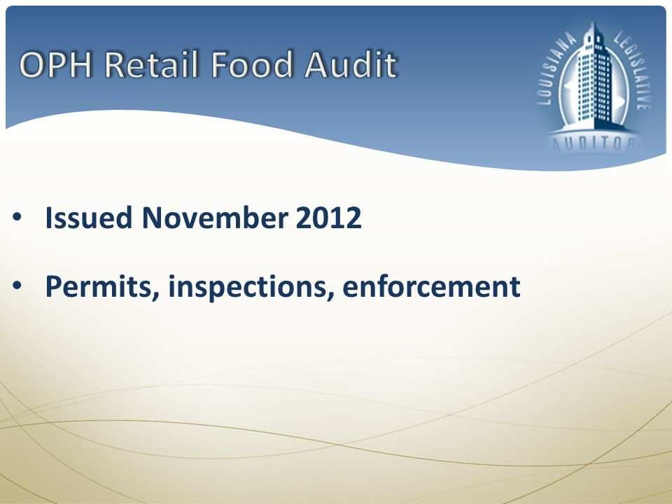 Questions about our three audits.What are some programs youd like to evaluate and improve.