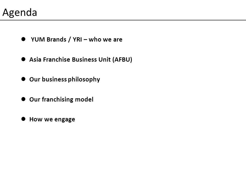 Page 40 AFBU Partner Engagement Model TYPEPROCESS / METHODSDETAILS STRATEGIC 1.HWWT 2 Action Planning Meetings 2.Partners Council 3.Franchise Convention One APM with each partner per year.