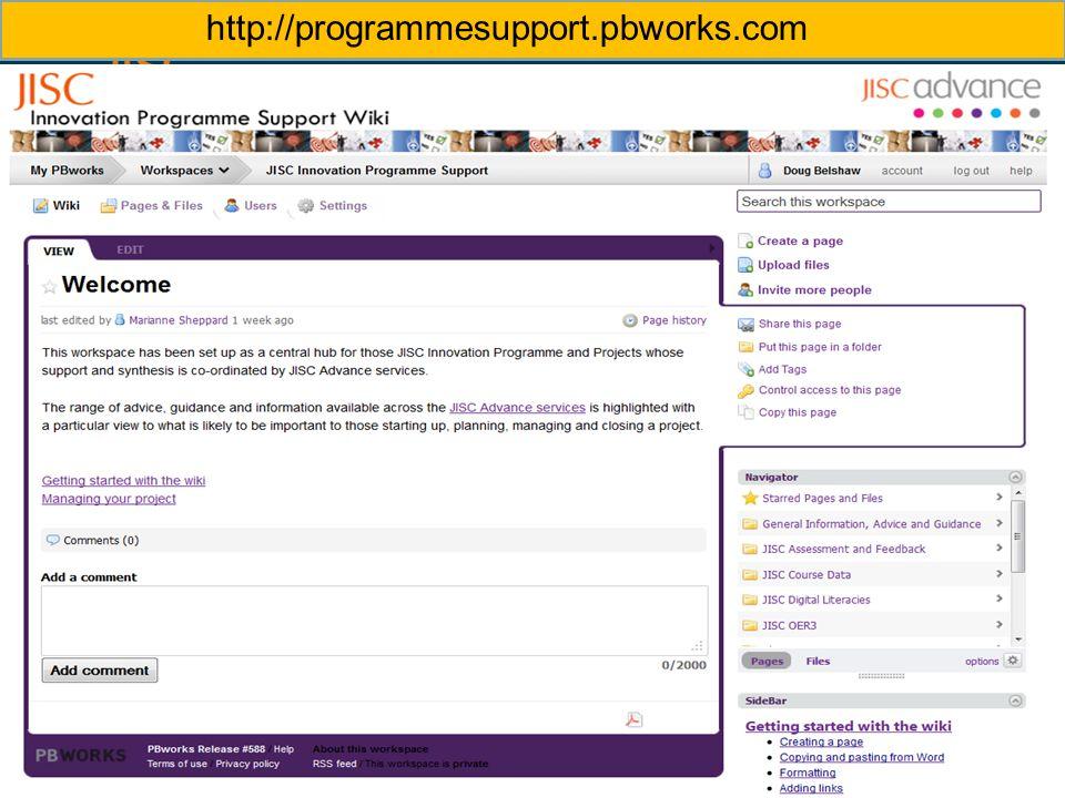 http://programmesupport.pbworks.com