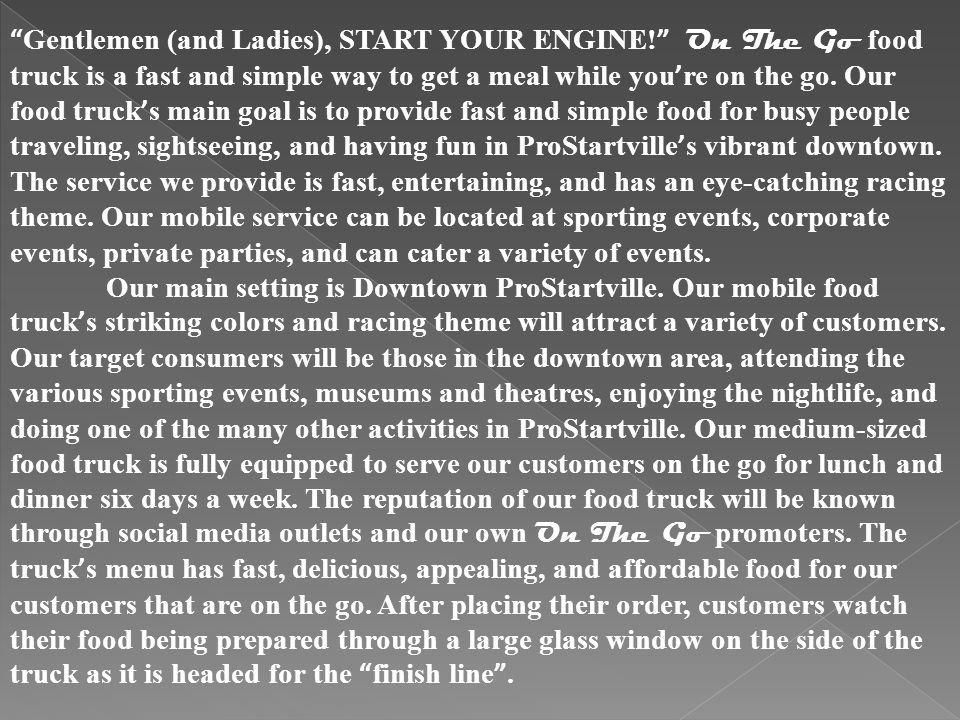 Gentlemen (and Ladies), START YOUR ENGINE.