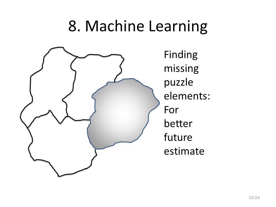 8. Machine Learning Finding missing puzzle elements: For better future estimate 10/24