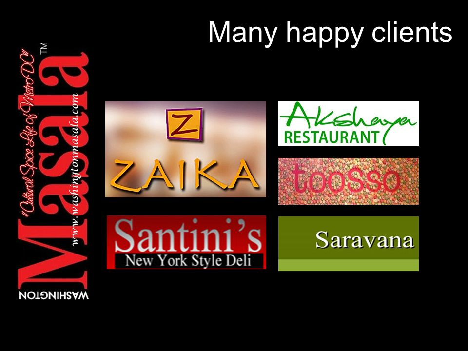 Many happy clients