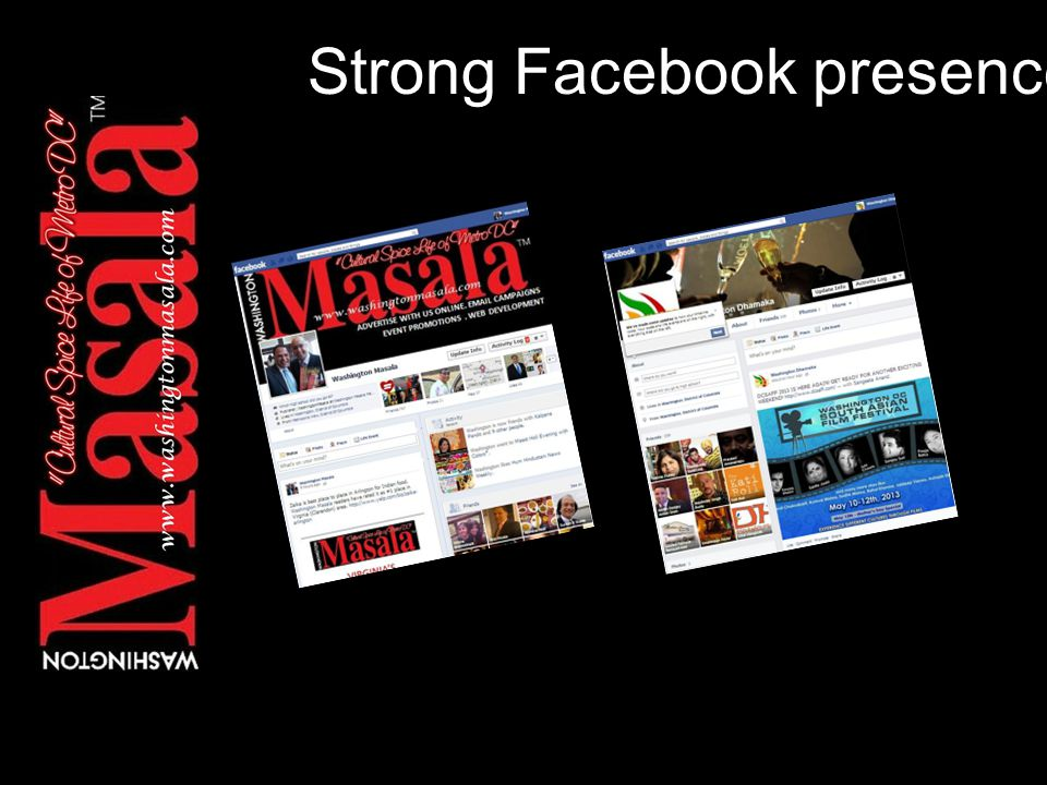 Strong Facebook presence