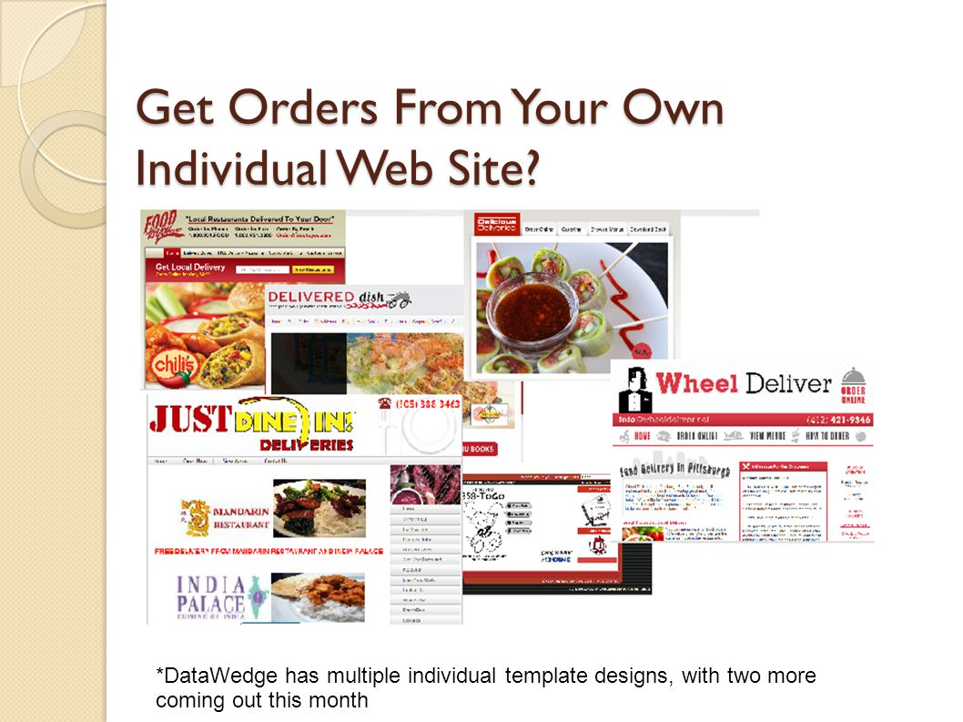 Get Orders From Your Own Individual Web Site.