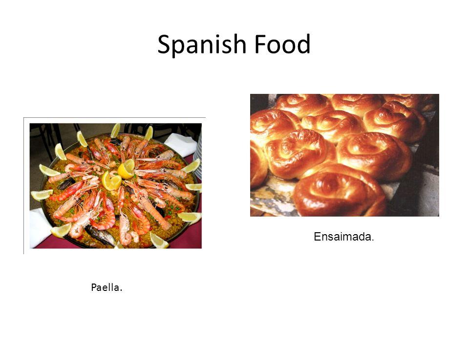 Spanish Food Paella. Ensaimada.