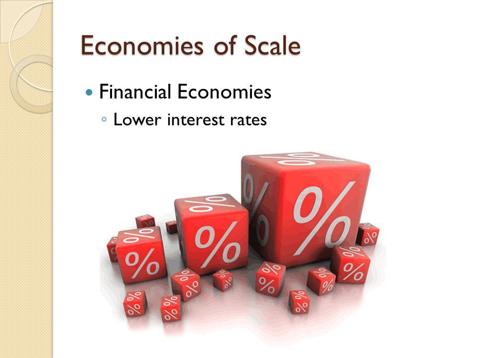 Financial Economies L ower interest rates