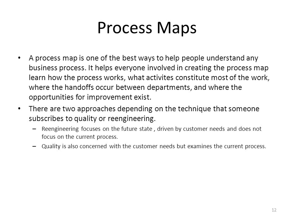 Process Maps A process map is one of the best ways to help people understand any business process. It helps everyone involved in creating the process