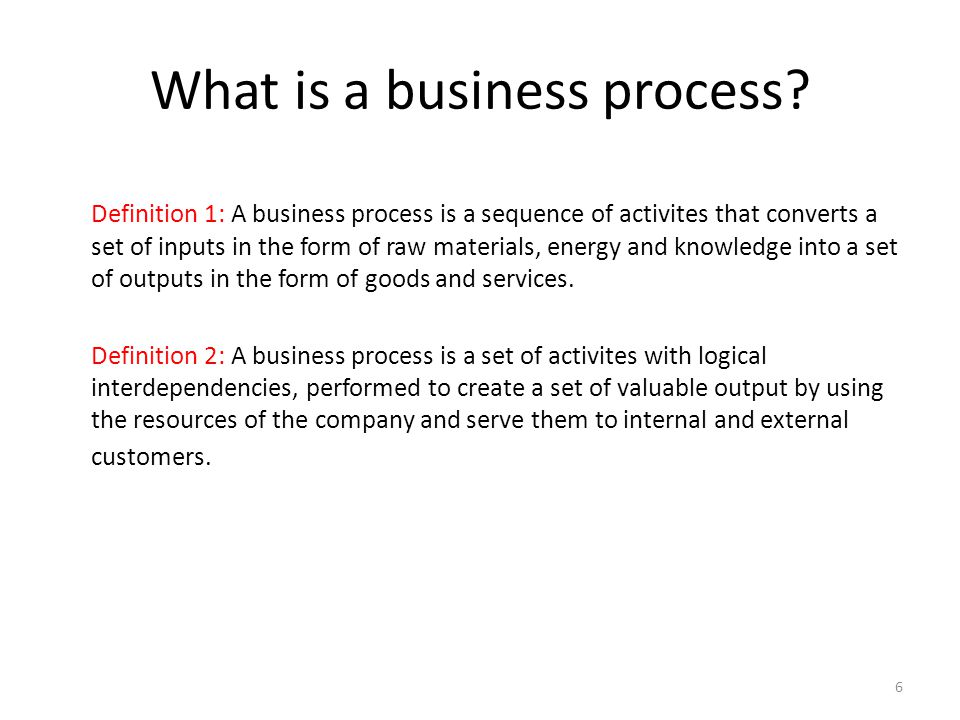 What is a business process.