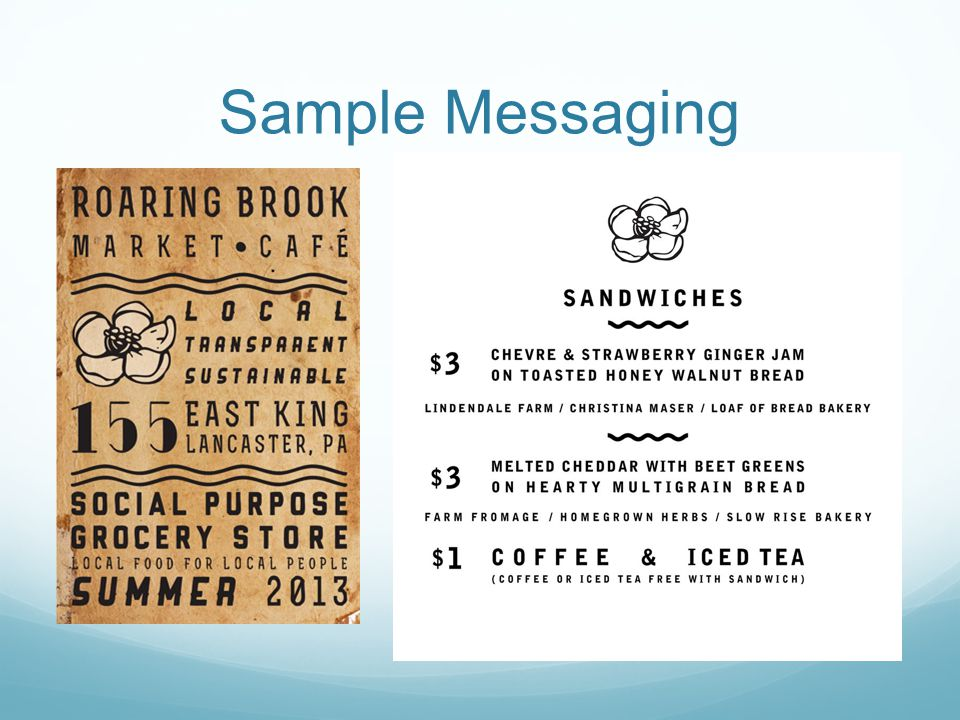 Sample Messaging