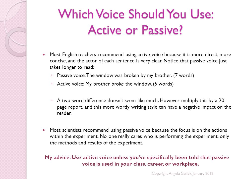 Which Voice Should You Use: Active or Passive.