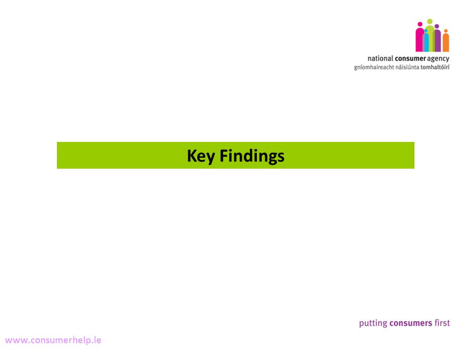 3 Making Complaints www.consumerhelp.ie Key Findings