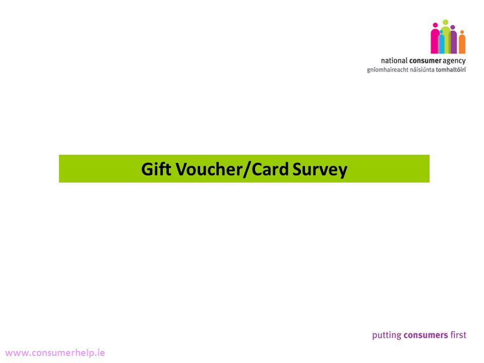 5 Making Complaints www.consumerhelp.ie Gift Voucher/Card Survey