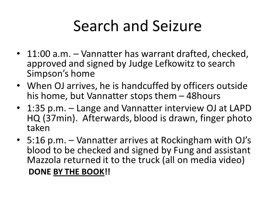 Search and Seizure 11:00 a.m.