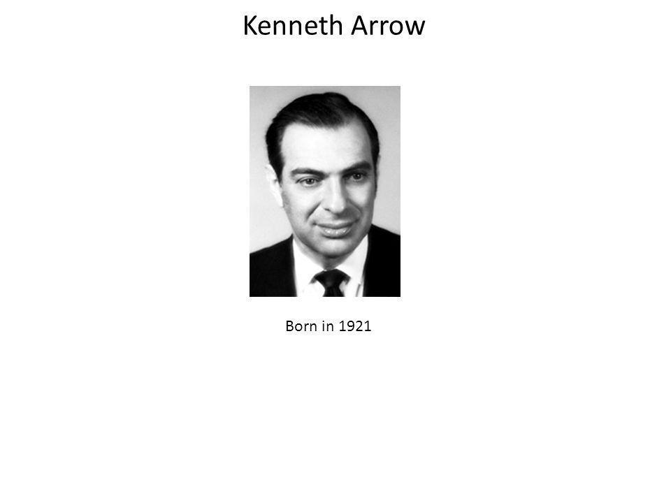 Kenneth Arrow Born in 1921