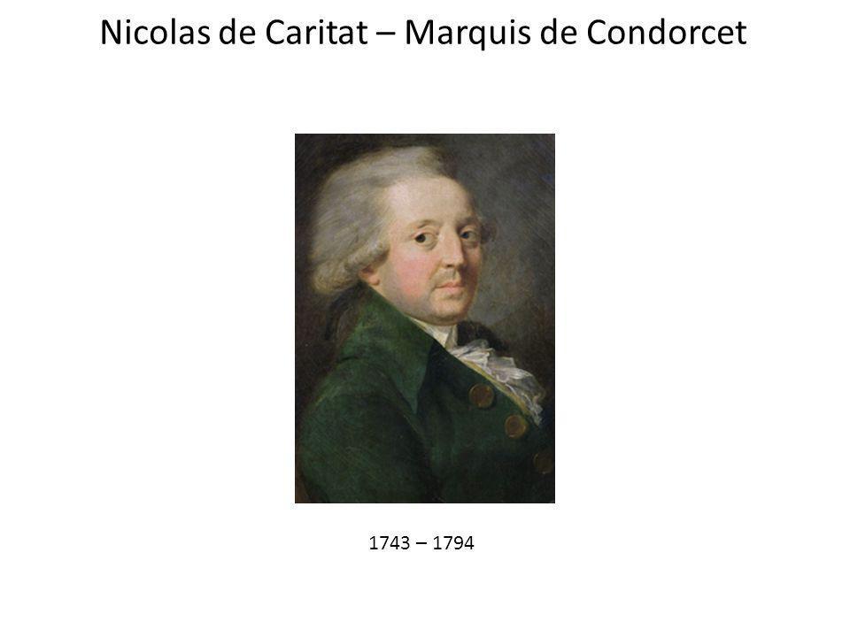 Nicolas de Caritat – Marquis de Condorcet 1743 – 1794