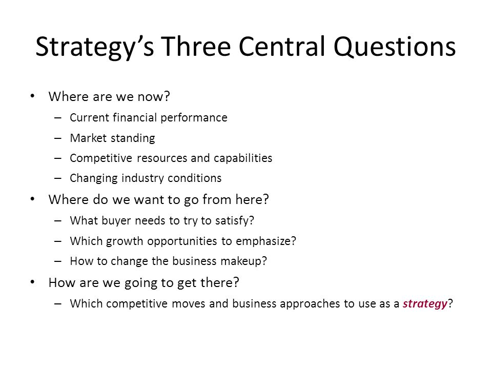 What Do We Mean By Strategy.