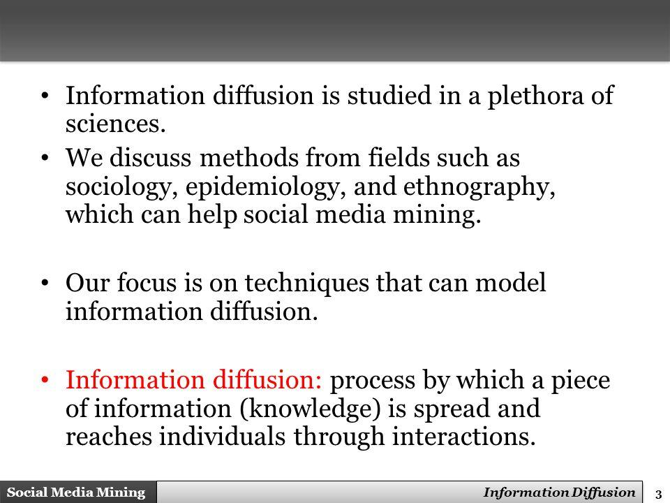 4 Social Media Mining Measures and Metrics 4 Social Media Mining Information Diffusion Sender(s).