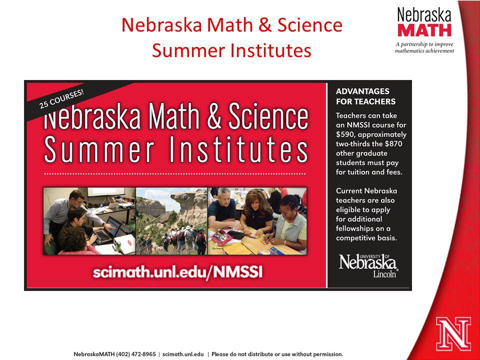 Nebraska Math & Science Summer Institutes