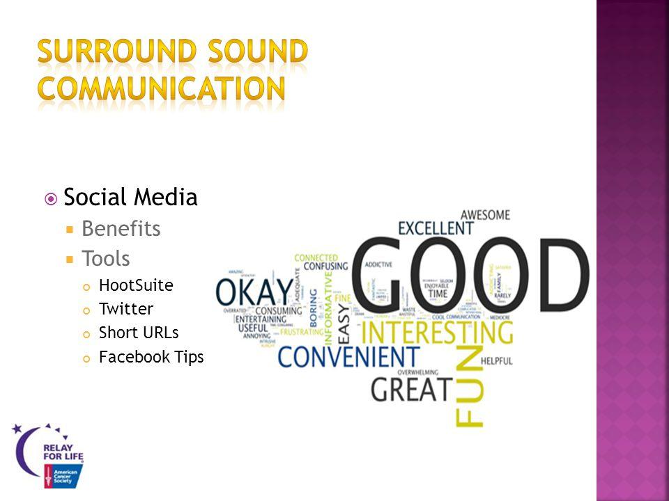 Social Media Benefits Tools HootSuite Twitter Short URLs Facebook Tips
