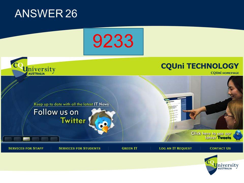 ANSWER 26 9233