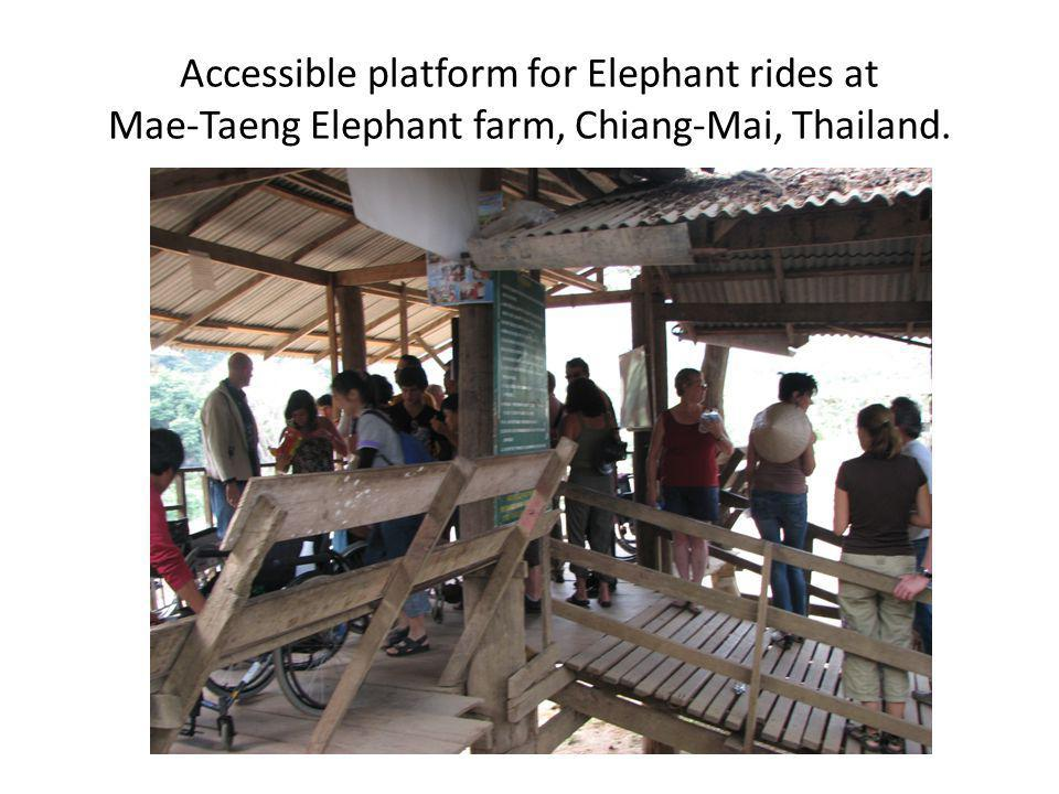 Accessible platform for Elephant rides at Mae-Taeng Elephant farm, Chiang-Mai, Thailand.