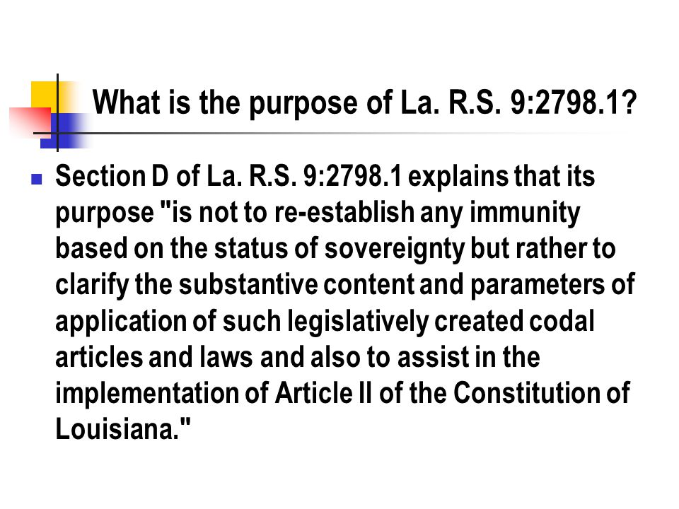 What is the purpose of La. R.S. 9:2798.1. Section D of La.