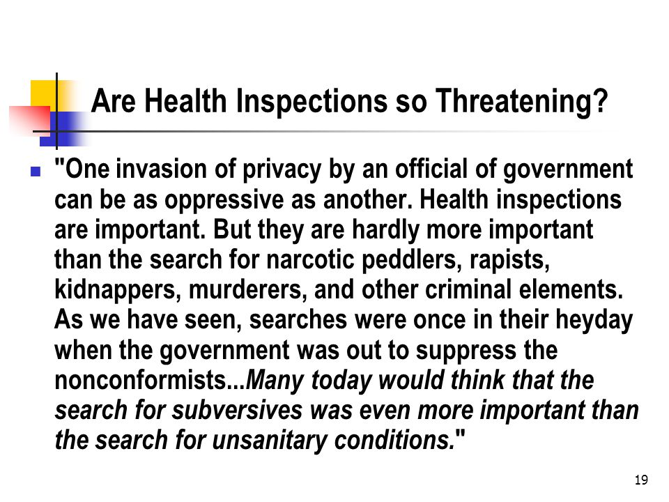 Are Health Inspections so Threatening.
