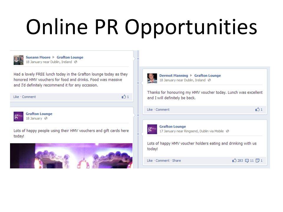 Online PR Opportunities