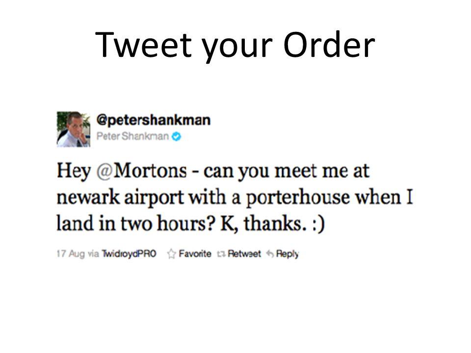 Tweet your Order