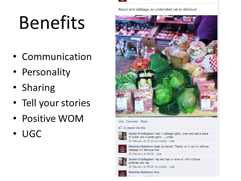 Communication Personality Sharing Tell your stories Positive WOM UGC Benefits
