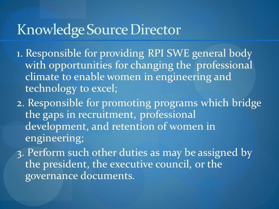 Knowledge Source Director 1.
